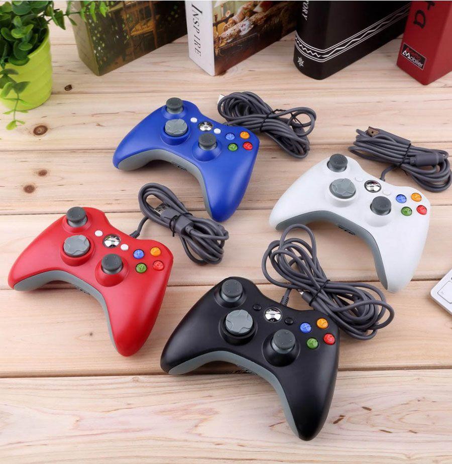 USB Wired Gamepad für Microsoft Xbox 360 Konsole Wired Controller Joypad Joystick Schwarz Weiß Rot Blau für PC Spiel Joystick