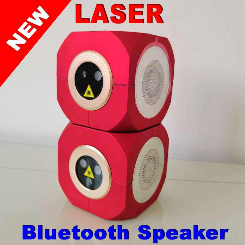 Small bag can Latest research and development Portable Bluetooth speaker laser light Outdoor music laser stage light Music laser KTV