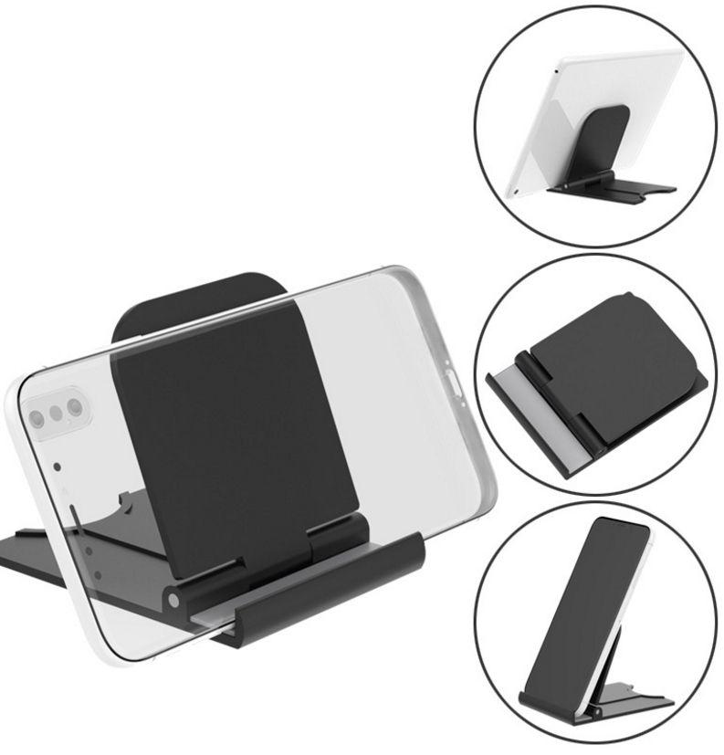 100PCS 유니버셜 접이식 테이블 휴대 전화 지원 플라스틱 홀더 데스크탑 휴대 전화 스마트 폰 태블릿 지원 전화 홀더 스탠드