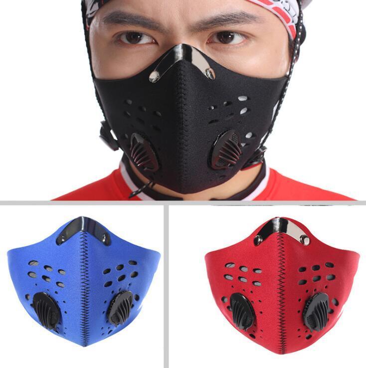 Велоспорт Велоспорт лицо спортивная тренировка Маска РМ2,5 Anti-загрязнение Запуска маска с активированным углем Фильтр моющейся Маски