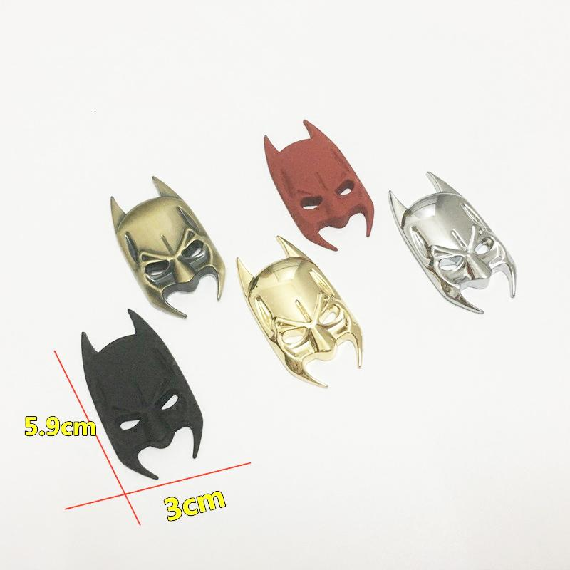Batman Bat Pattern Car Moto Personalità Creatività Car Door Parafango posteriore Coda Trunk Serbatoio carburante Badge Emblem Sticker Decal
