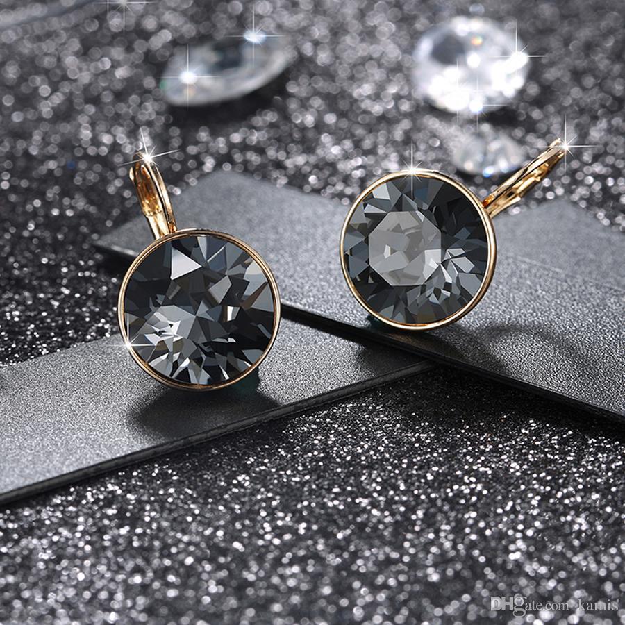 Top Bella qualità di modo del progettista orecchini per le donne Realizzato con regalo di Natale di cristallo Swarovski Elements Jewelry Bijoux festa di nozze