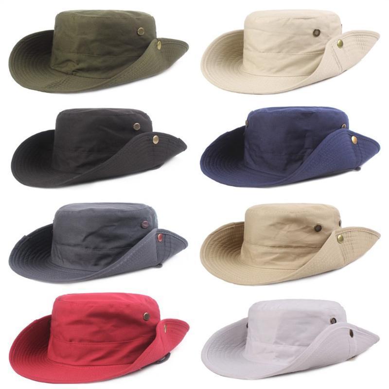 Uomini benna larga del bordo cappelli cappello di protezione solare esterna escursione di pesca Cap pieghevole HATCS20007