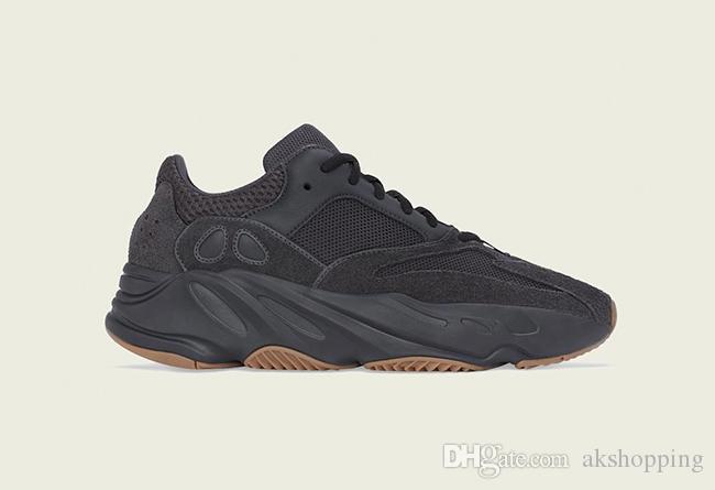 2019 Yayın Originals 700 Utility Siyah Kanye West Erkekler Kadınlar 3M Yansıtıcı Otantik Spor Sneakers Ayakkabı Koşu