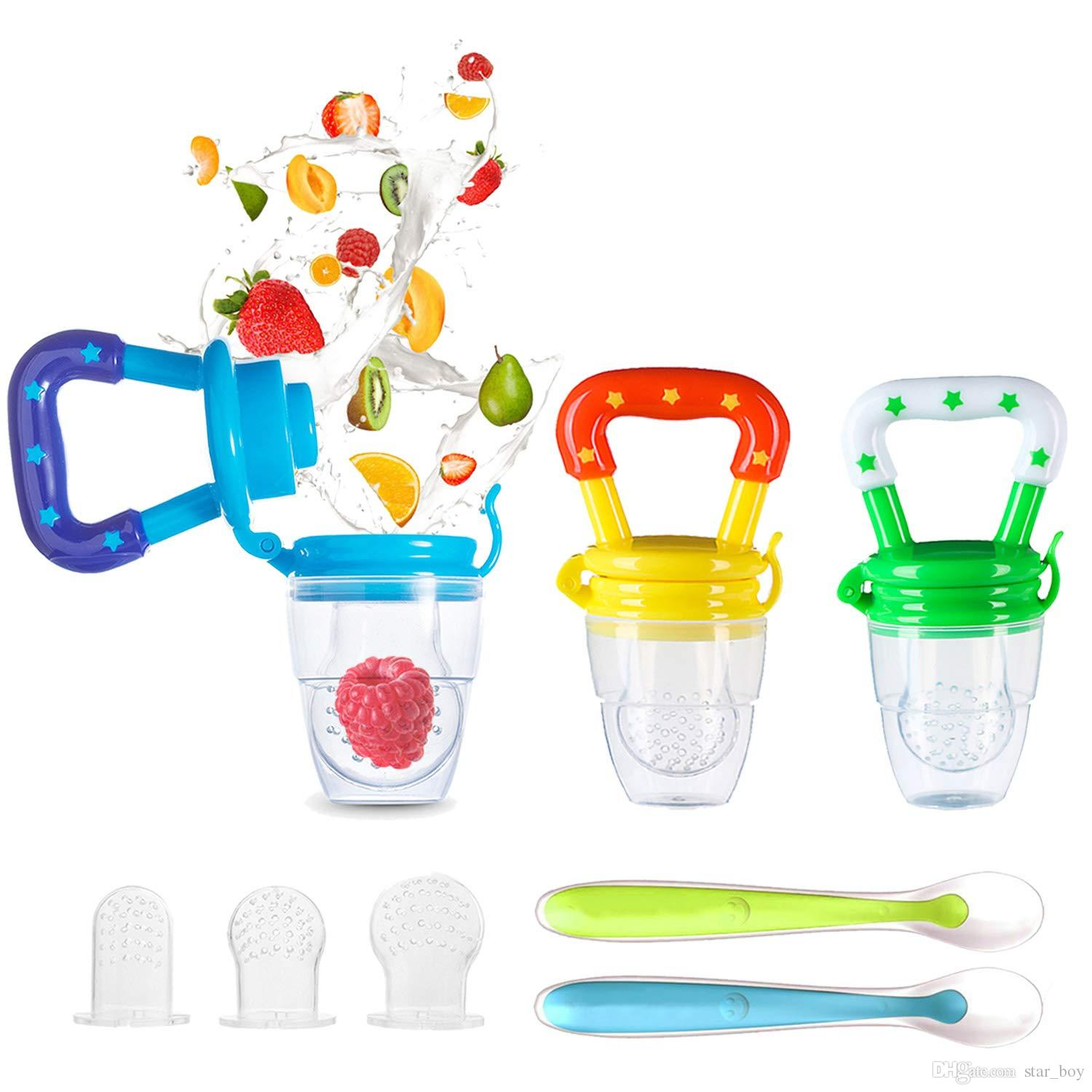 Baby Infant Dummy Pacifier Silicone Soother Nipple Fresh Food Fruits Feeder Tool