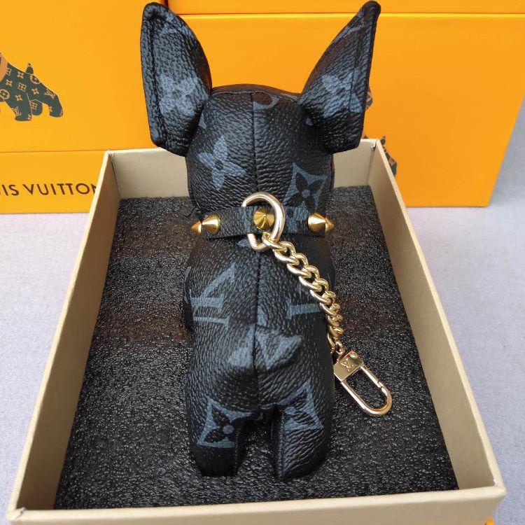 Hommes Femmes meilleur cadeau porte-clés pour animaux de compagnie chien français de porte-clés design de luxe de combat Mode Pendentif clé de voiture Décoration sans boîte