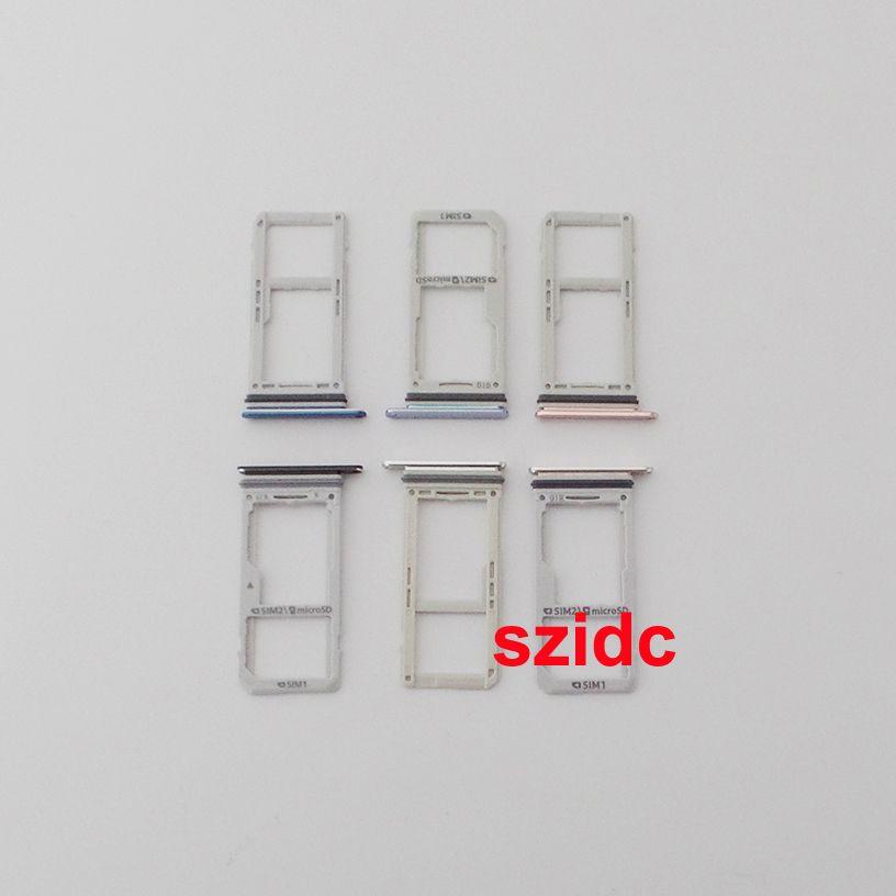 Original New Sim titulaire de la carte Slot plateau pour Samsung Galaxy Note 8 Double support de plateau Sim en gros
