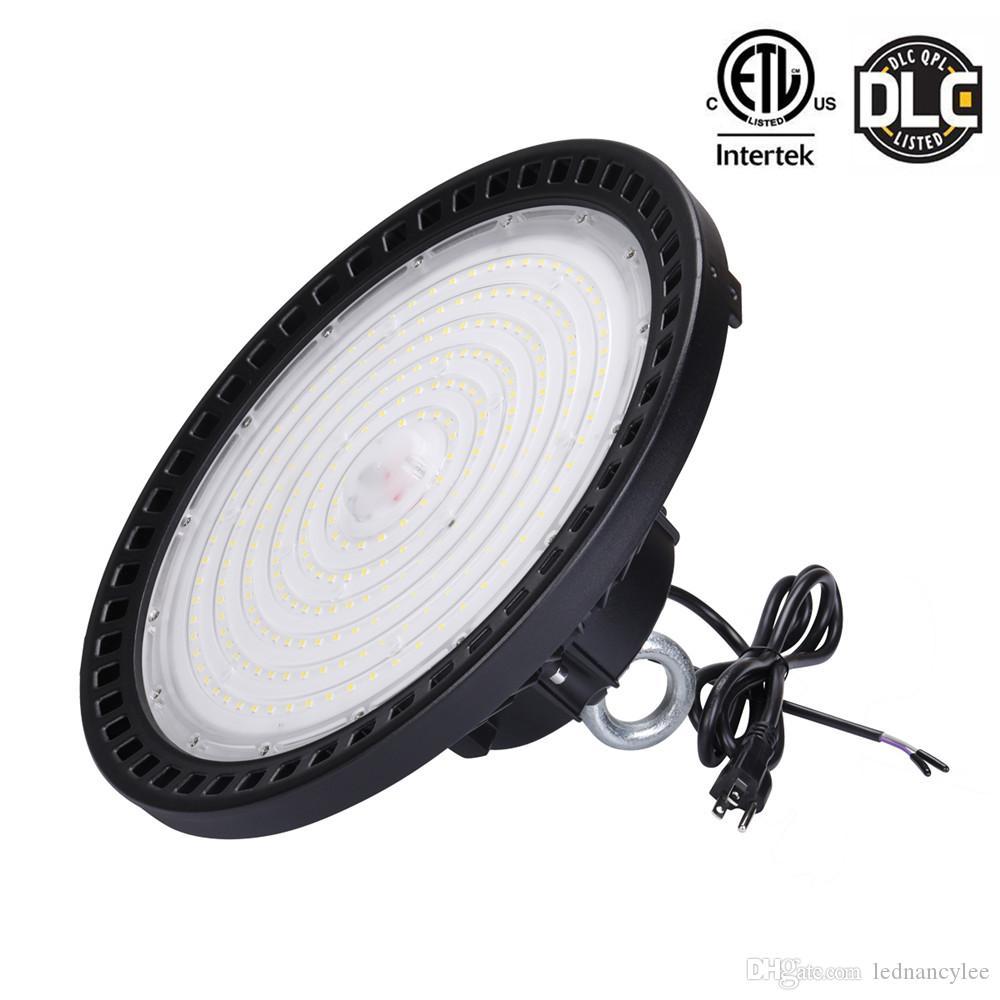 1-10 فولت عكس الضوء ufo led highbay أضواء 5000 كيلو 240 واط 200 واط 150 واط أدى ضوء خليج عالية للمرآب العمل متجر مستودع الصناعية IP65 150LM / W