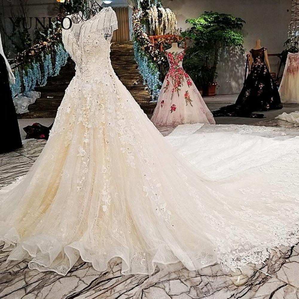 Trasporto libero ricamato organza e tulle cerniera a-line o-collo appliques che borda foto reali abiti da sposa