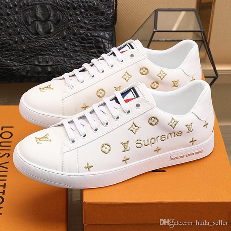 Drop Ship Hommes Chaussures de haute qualité Chaussures confortables luxe à lacets Footwears Calzado deportivo para hombre plates-formes Chaussures de sport Mode Flats