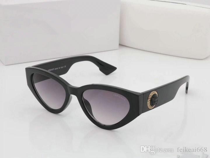 2019 موضة جديدة uv 400 حماية مربع الأصلي إيطاليا ماركة مصمم الذهب سلسلة تايجا ميدوسا نظارات الرجال النساء نظارات الشمس 187