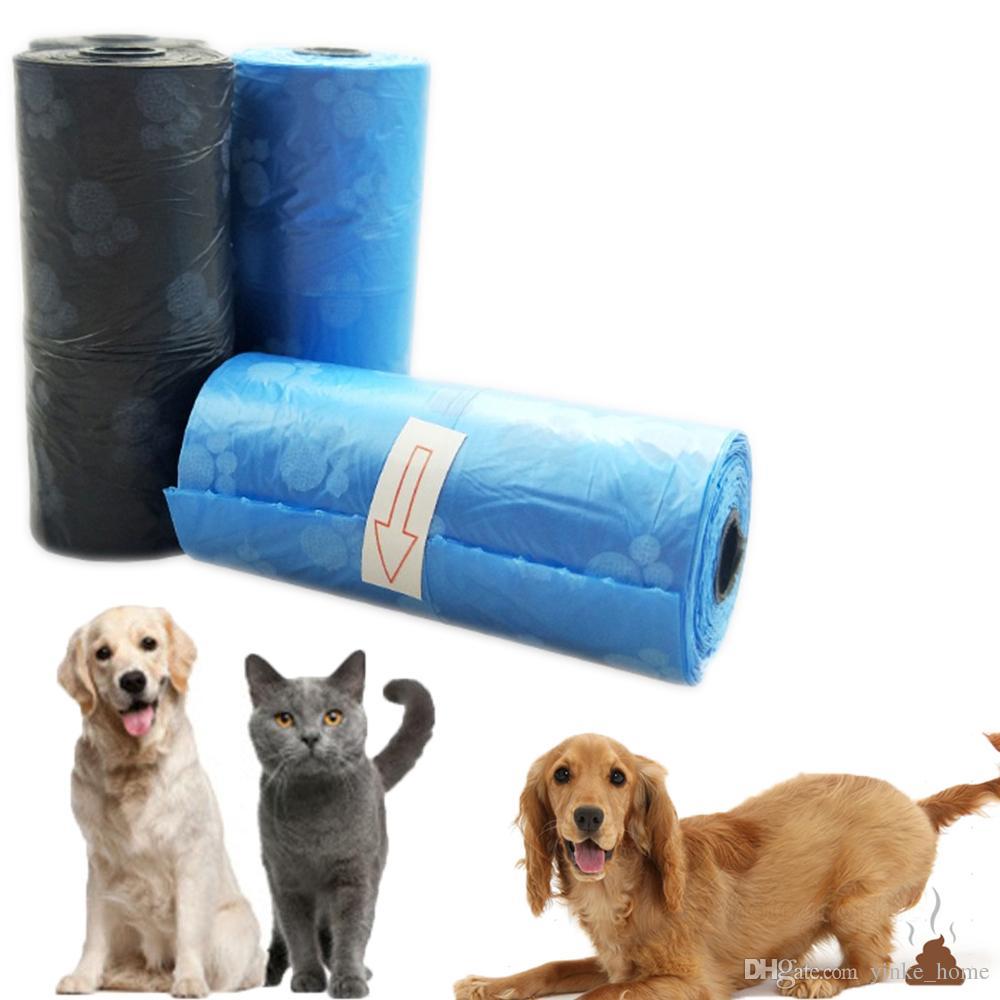 15Pcs 실용 애완 동물 개 폐기물 쓰레기 가방 디스펜서 쓰레기 쓰레기 고양이 강아지 푸 수집 봉투