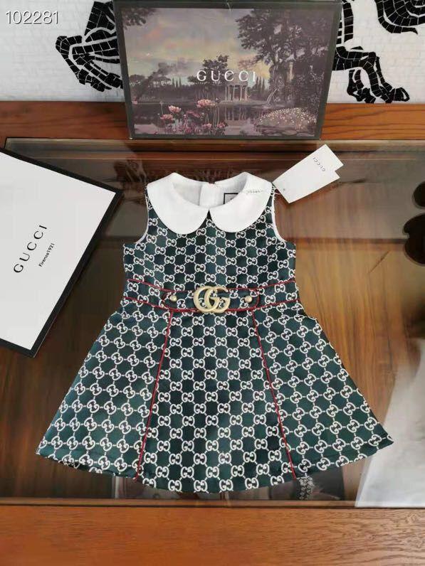 Perakende Kız baskılı Karıştırdı tatlı bebek elbiseleri çocuk İlkbahar Sonbahar kolsuz yelek elbise çocuk giyim