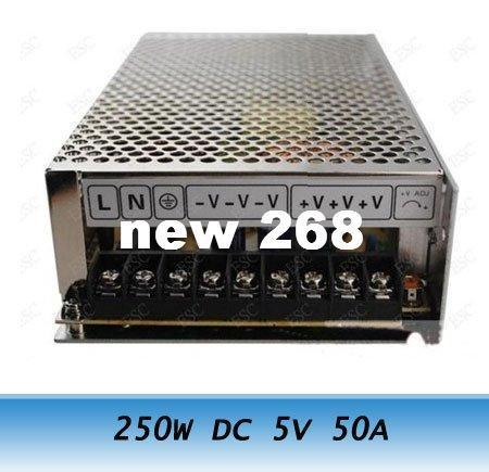 Freeshipping 250 W DC 5 V 50A Comutação Transformador de Alimentação LED CCTV Câmera DVR Segurança