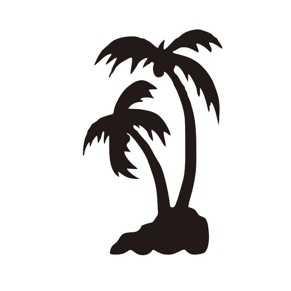 Palm Tree Set Car Decal Sticker Window Matte Black Bag Summer Paradise Hawaii Personality Accessories