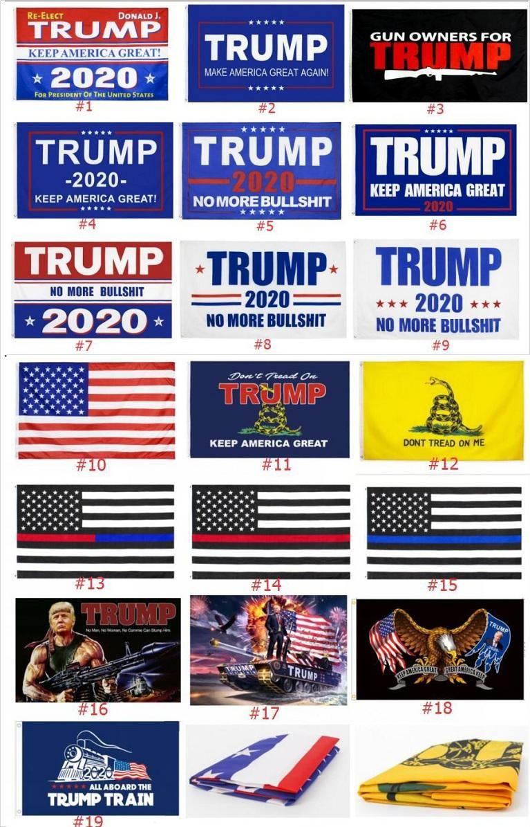 Качество 19 Стили Trump 2020 Флаг Дональд Трамп Флаг Keep America Великого Дональд президент кампания Знамя 90 * 150см Сад Флаги DHB336
