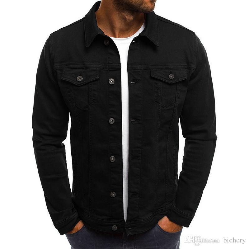 Laamei 2018 Hombres chaqueta dril de algodón de alta calidad de la manera pantalones jeans Slim Fit Casual Streetwear vendimia Hombres Jean ropa más del tamaño