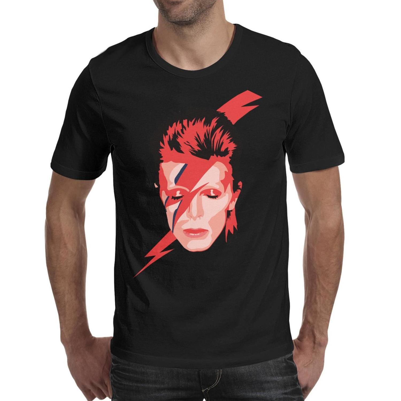 Manica corta personalizzata David-Cool-Bowie-city-Aladdin Sane Album Tee in cotone T-shirt nera di vita Musica maglietta su Marte canzoni Lazarus film