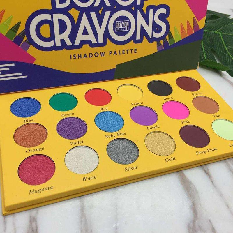 BOX eyeshadow OF CRAYONS Eyeshadow iShadow Palette 18 Color Shimmer Matte Eyeshadow Palette Makeup Eye shadow