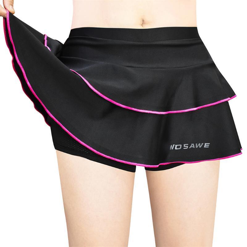 Cyclisme rembourré Jupe Tennis Golf Yoga Shorts Pantalons Jupe Balancez XXS-M