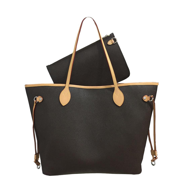 Totes Handtaschen Schulter-Handtaschen-Frauen-Beutel-Rucksack-Frauen-Einkaufstasche Geldbeutel Brown-Beutel-Leder-Kupplungs Fashion Wallet Taschen 18882