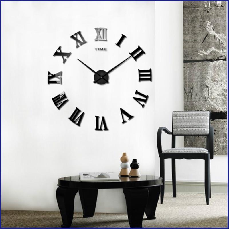 16 polegadas 2019 Promoção real Big New Arrival Quartz Relógios moda relógios 3D Home Decor grande espelho Roman Relógio de parede