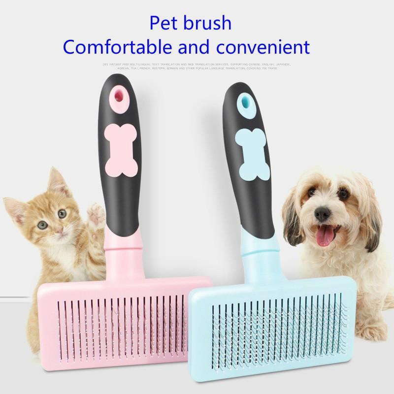 Pet brosse pour chien peigne chat Épilation longs cheveux courts cheveux toilettage de chien brosse deShedding bord Pet outil