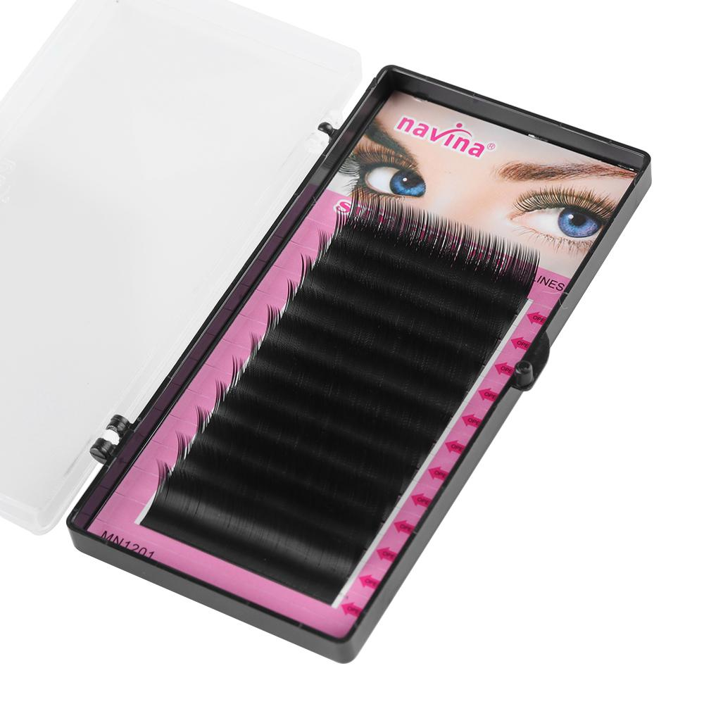 12 lines Faux Mink Individual Eyelashes Extension Russian Volume False Eyelashes C Curl 0.10 0.15 Thickness Handmade Eye Lashes