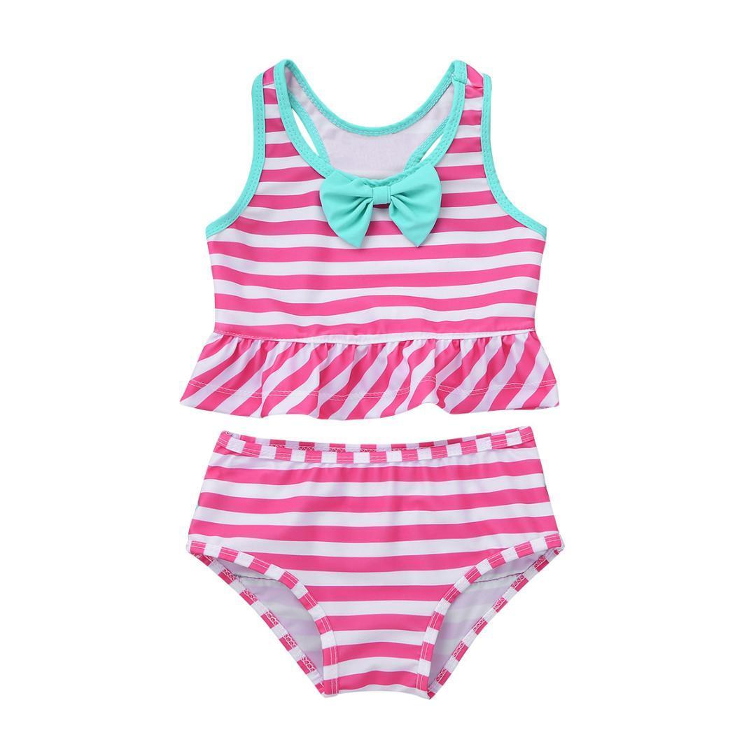 FashionWear Girls One Piece Swimsuit Bathing Suit Summer Beach Wear Size 4-6X
