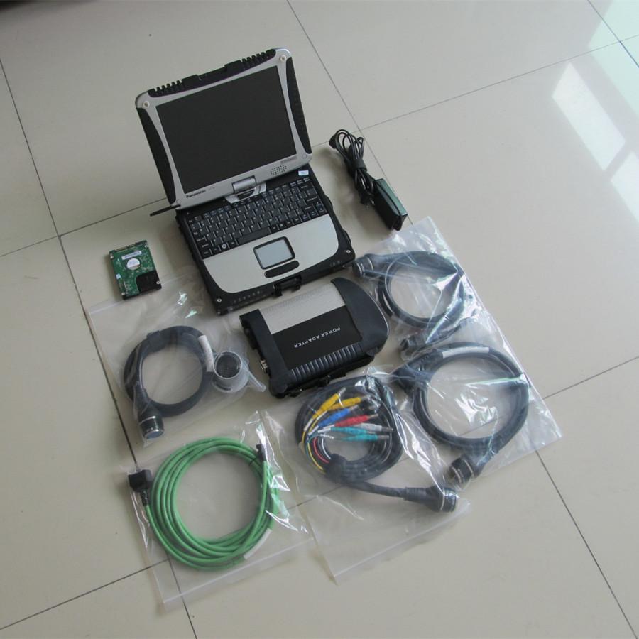 MB STAR C4 + XENTY DAS EPC Software 03/2021 HDD 320 GB + CF19 Laptop Touchscreen Super Velocità per Mercedes Star Diagnostic