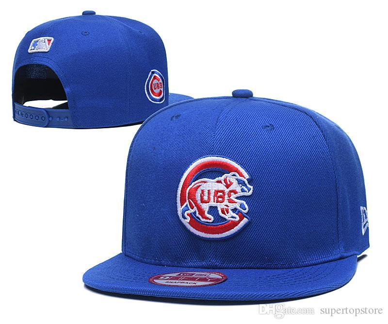 One Piece dos homens chapéus de basebol Para Cubs equipe bordado letra logo reais beisebol Caps Brands Plano conta Esporte ajustáveis Hat ossos de mulheres