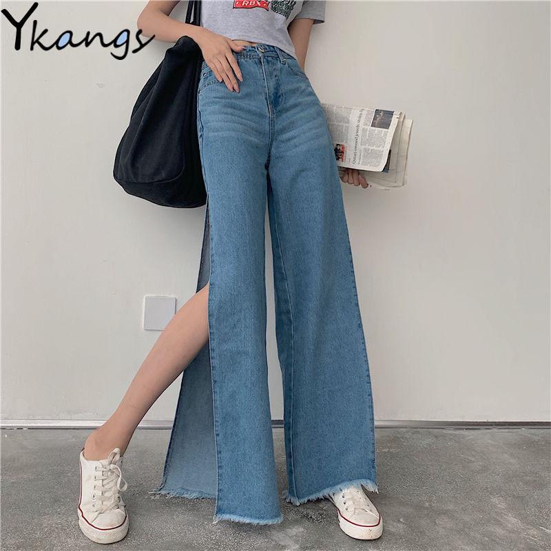 Compre Summer De La Nueva Cintura Alta Mom Jeans Para La Mujer Chic Lado Recto Denim Jeans Novios Suelta Streetwear Mujer Pantalones Negros A 18 5 Del Jiuwocute Dhgate Com
