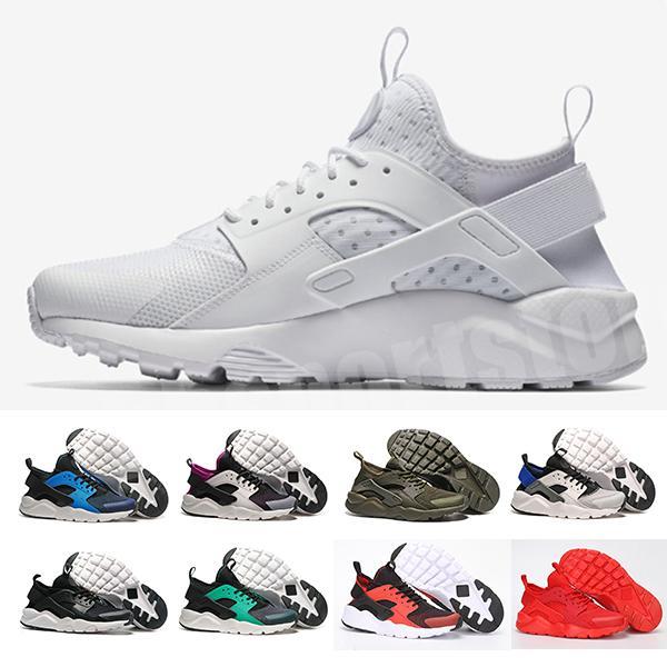 Huarache 1 IV koşu ayakkabıları Altın gri üçlü Beyaz Siyah Kırmızı erkekler kadınlar Için Huaraches Koşu eğitmenler spor ayakkabılar ABD 5.5-11 H7326