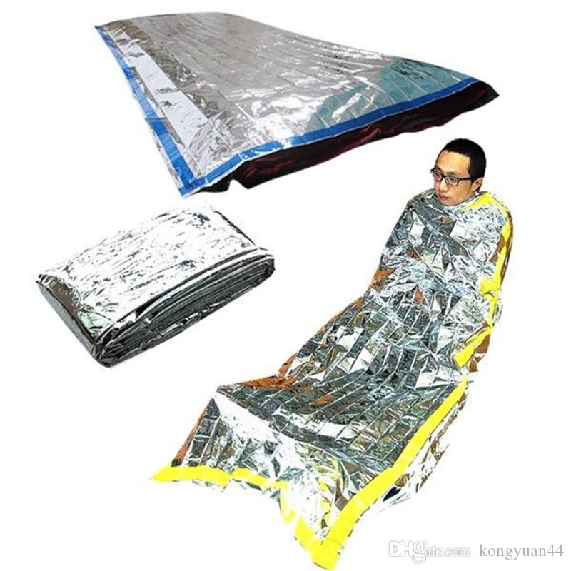 200*100cm New Lightweight Outdoor Waterproof Emergency Sleeping Bag Survival Rescue Thermal First Aid Blanket Camping Foil Rescue Blanket