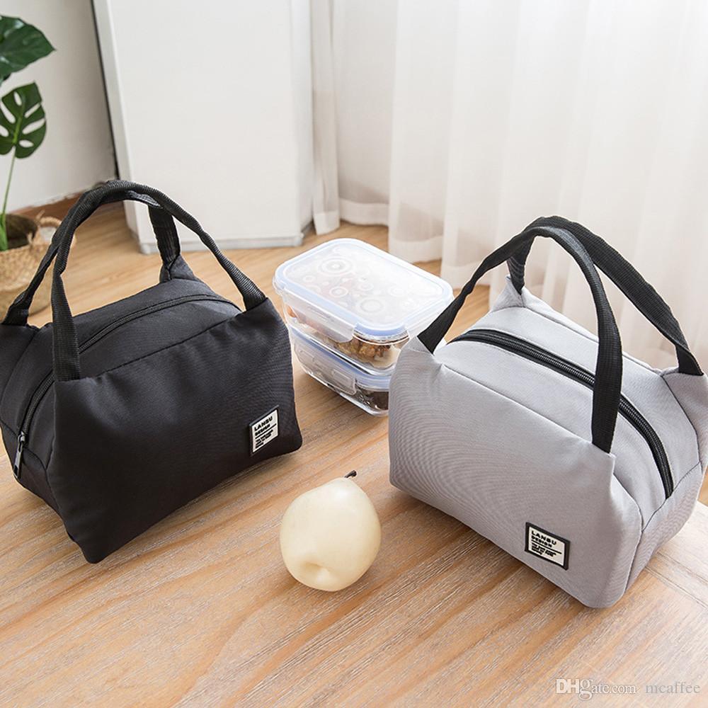 Для женщин дети мужчины изолированные холст коробка сумка тепловой охладитель еды обед сумки водонепроницаемый ручка для переноски обед 10OCT 16
