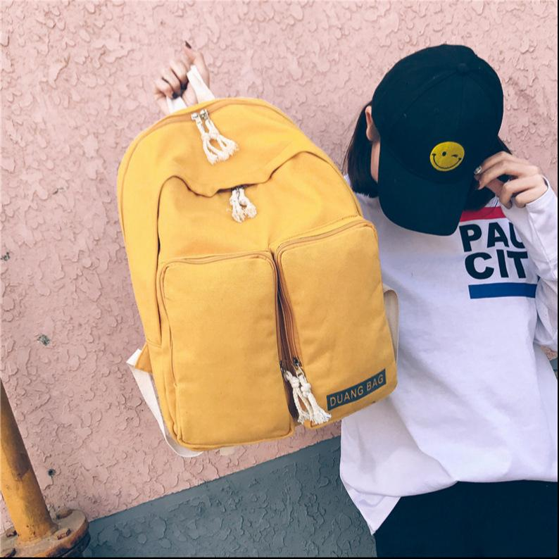 Amazing2019 Shoulders Both Woman Leisure Time Student A Bag Campus Canvas Back School Wind Travel Computer Package