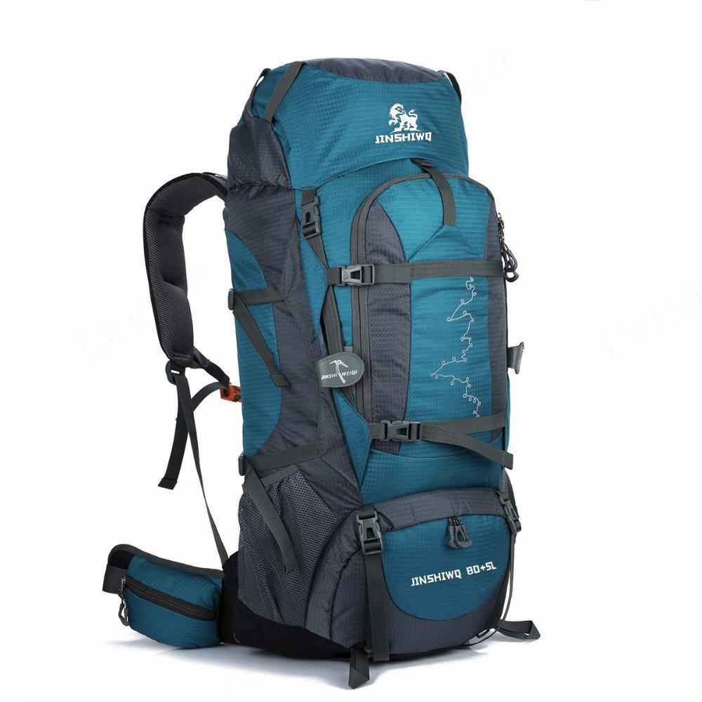 85L металлического кронштейна Мужчины Рюкзак Открытого рюкзак спортивной сумка водонепроницаемого кемпинг походы Скалолазание Открытых Сумки Рюкзак