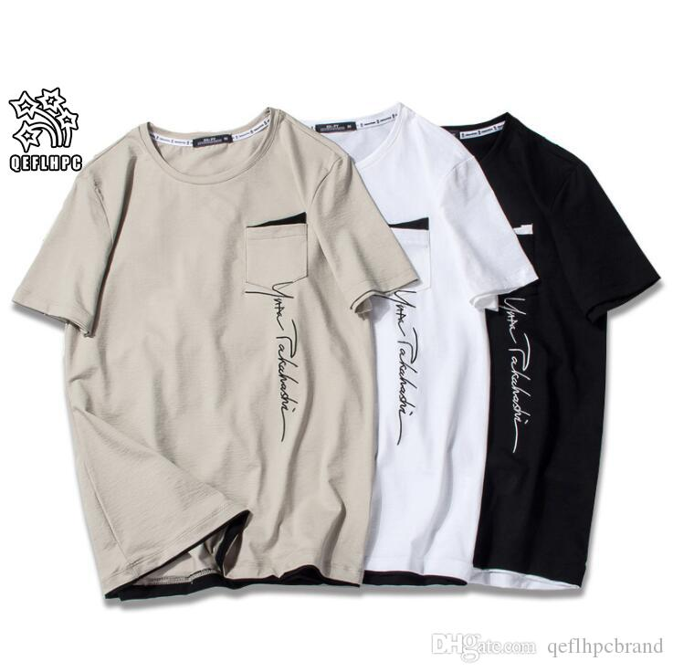 2019 여름 브랜드 탑 망 T 셔츠 반팔 짧은 소매 흑백 티셔츠 남자 디자이너 티셔츠 티 티 라운드 넥 패션 Tshirt S3353