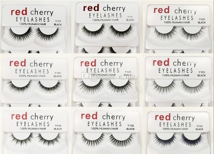 In Stock!! Red Cherry False eyelashes 5 pairs/pack 8 Styles Eyelash Natural Long Professional makeup Big eyes High Quality
