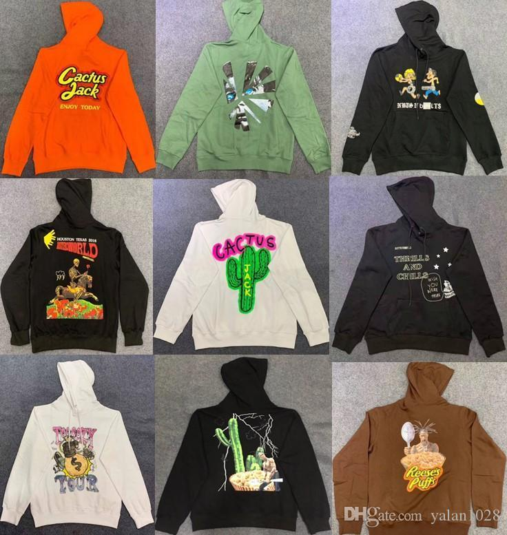 19SS Cactus Travis Scott Astroworld Sicko Hoodies Männer Frauen Qualitäts-Krawatte Färben Hip Hop Hoodies S-XL