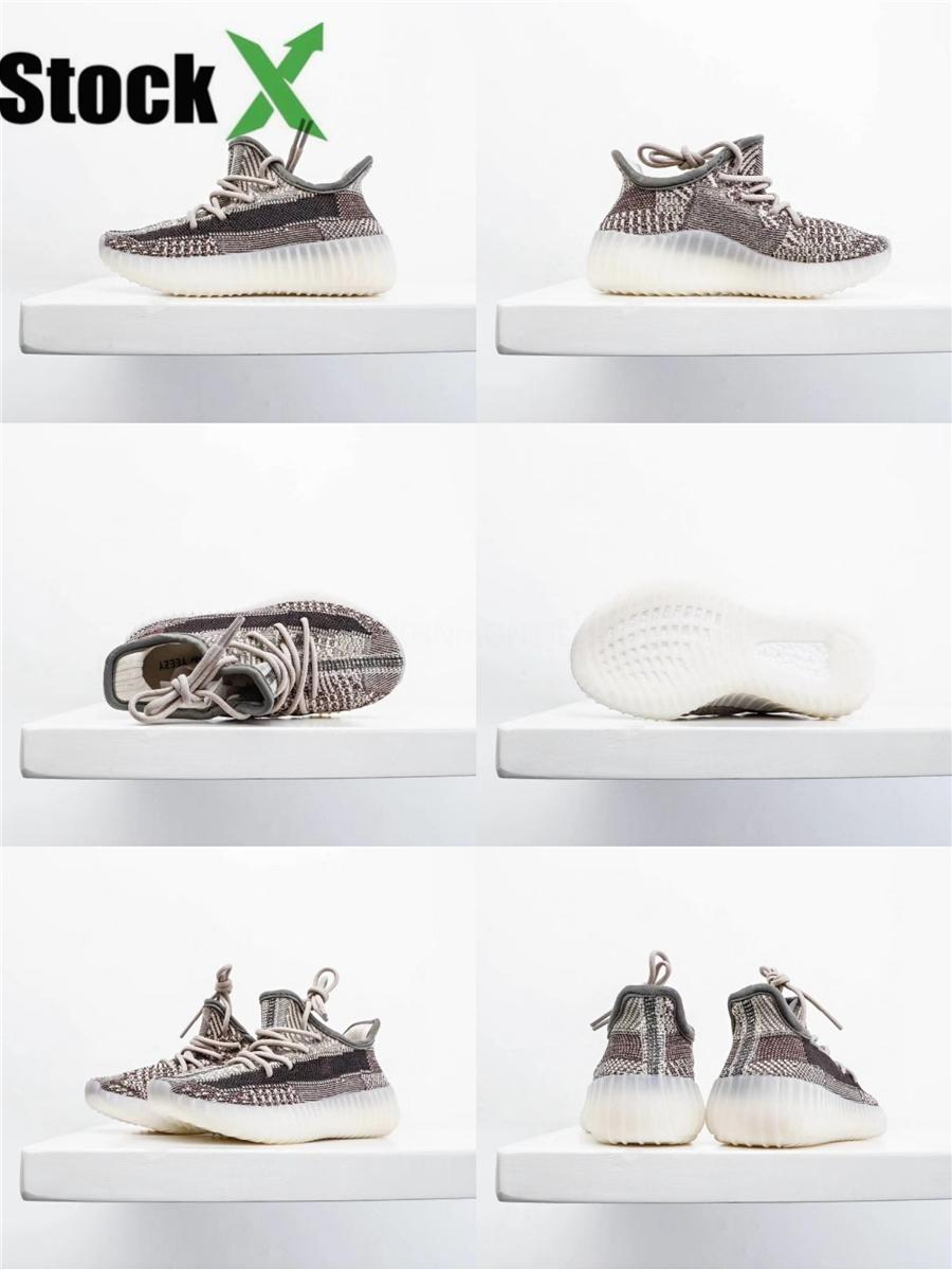 2020 Yeni Yecheil Yeehu Reel Glow Ayakkabı Sitrin Bulut Beyazı Siyah Yansıtıcı Çocuk ler Eğitmenler Kanye West Sport Sneakers # 367 Running