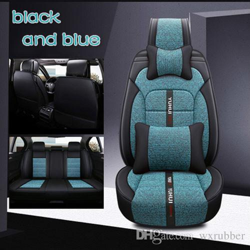 SUV Navy Blue Breathable Adjustable Children Car Seat Cushion Comfortable Thickening Car Seat Protector Cover Cushion Pad Pillow Neck Support Cushion Pad and Seatbelt for Most Car Truck
