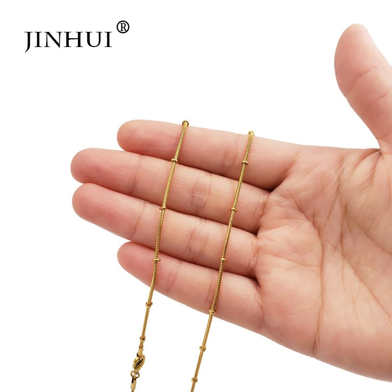 donne Jin Hui africano Medio Oriente Trendy d'oro Collane Uomini Lunghezza 45 centimetri di compleanno gioielli di moda regalo attuale amanti Collane