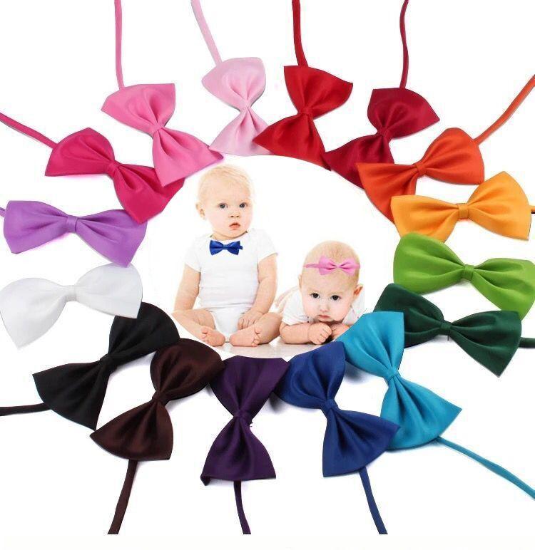 사랑스러운 아기 나비 넥타이 새로운 조정 가능한 아이의 머리카락 액세서리 어린이 넥타이 단단한 Bowtie 장식 20 색상 재고 있음