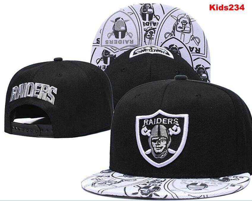 Kindermode Schirmmütze Fußball Oakland Hut-Hüte Jugend Kinder Strapback Verschluss zurück Sommer LKW-Kappe Hip Hop justierbarer Hut 00