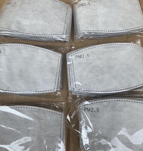 5 طبقة PM 2.5 فلتر ورقة يمكن التخلص منها قناع أقنعة الوجه الوسادة الداخلية الوسادة طوقا استبدال تصفية الوسادات طفل الكبار حجم LJJK2200