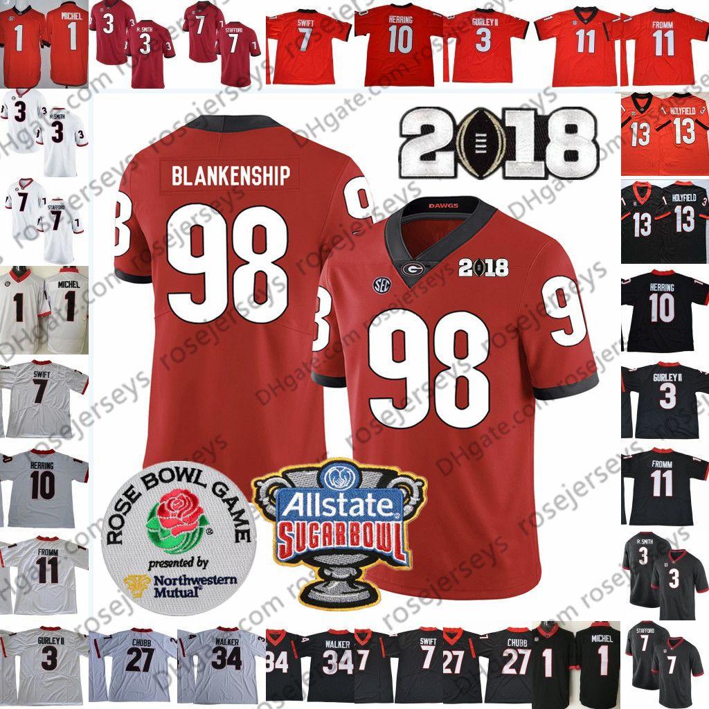 2021 2019 UGA Georgia Bulldogs #1 Sony Michel 27 Nick Chubb 13 ...