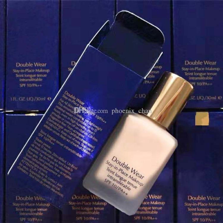 Doppio di marca truccarsi 1W1 1W2 OSSO SABBIA 1C0SHELL 2C0COOLVANILLALiquid Fondazione Makeup Liquid Foundation 30ml 5 colori correttore liquido