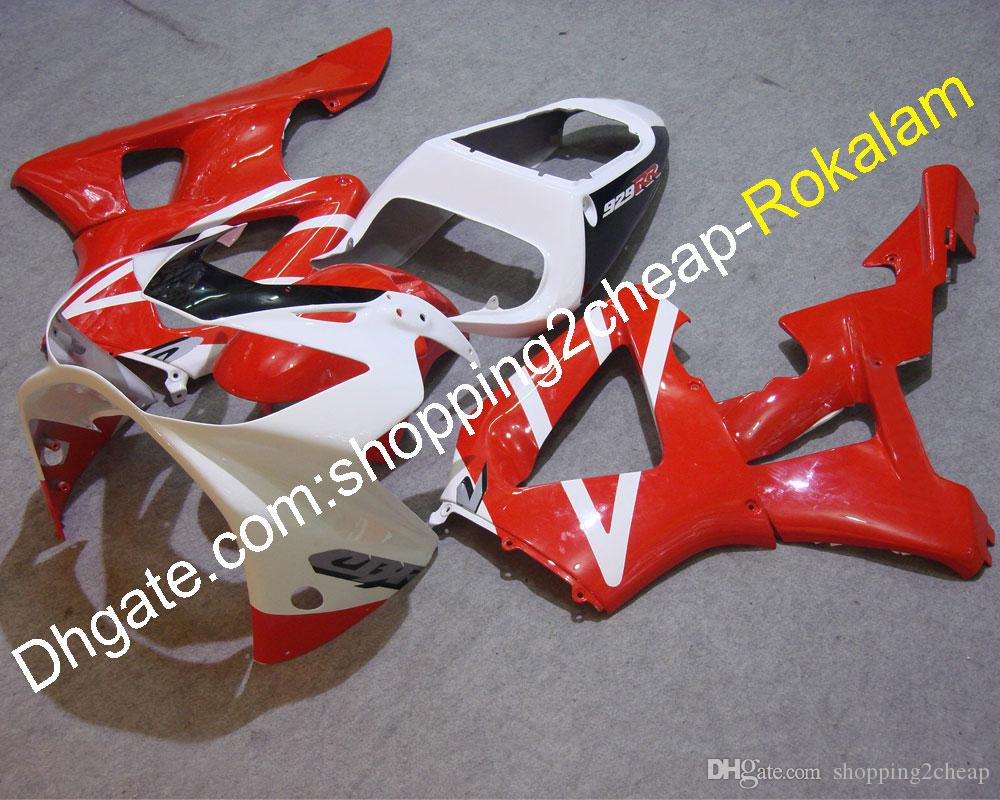 For Honda Cowlings CBR900RR 929 2000 2001 CBR RR CBR929 CBR900 00 01 Motorcycle ABS Plastic Red Black White Fairing (Injection molding)