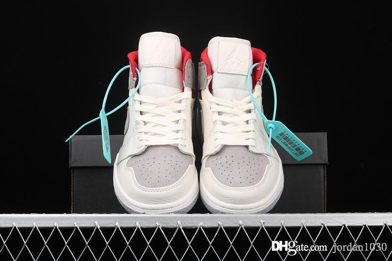 Nike Air Jordan AJ AJ1 Mid Sneakersnstuff 20th Anniversary 2020 caldo di vendita scarpe da basket 1 Sneakers 1s Nstuff scarpe di lusso 20 ° anniversario CT3443-100 Rosso Size36-46